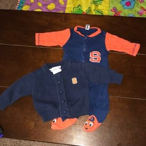 Other - Syracuse fans! Onesie with navy cardigan